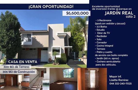 Casa De Oportunidad En Venta, Fracc Jardín Real, En Coto