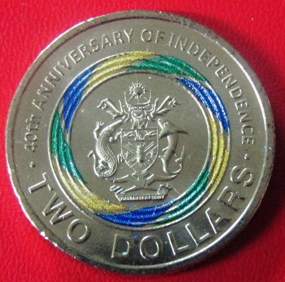Islas Salomon 2 Dolares 2018 40º Aniv. Independencia A Color