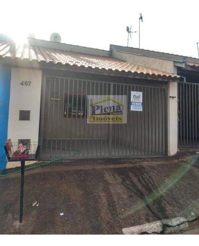 Casa Com 2 Dormitórios À Venda, 70 M² - Jardim Viel - Sumaré/sp - Ca4051
