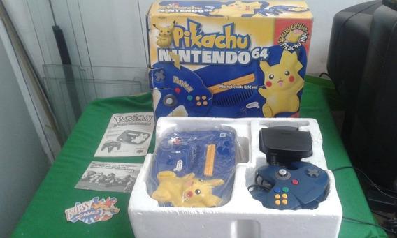 Nintendo 64 Edição Pikachu Completo Na Caixa E Manuais