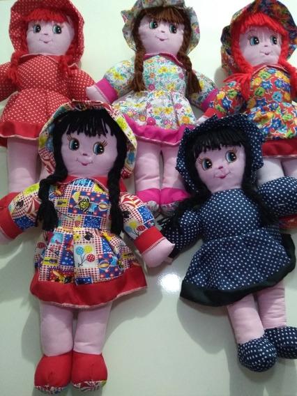 Kit 15 Bonecas De Pano 35cm,ótima Pra Nicho, Menina Decorar.