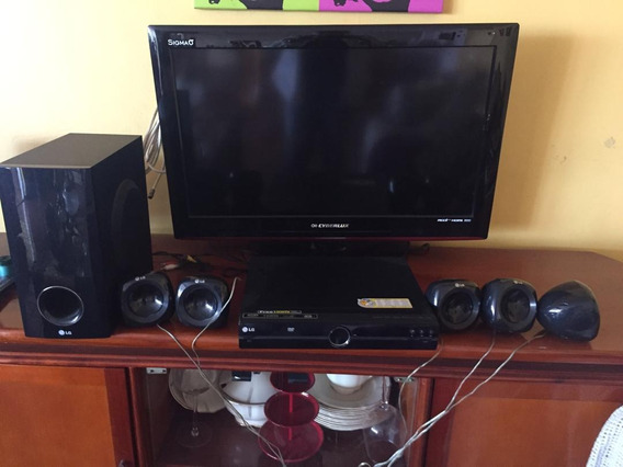 Televisor Cyberlux 32 Con Dvd Y Home Theater Lg