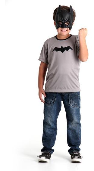 Disfraz Batman Kit De Remera Y Mascara Original Sulamericana