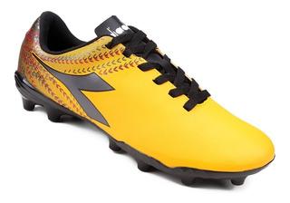 Chuteira Campo Diadora Track Amarela Futebol