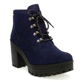 f5f8f0ac7b Coturno Feminino Azul Marinho - Sapatos no Mercado Livre Brasil