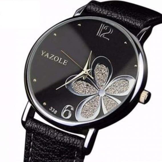 Relógio Feminino Yazole Flor Quartzo Analógico