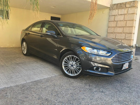 Auto Ford Fusion 2016 Gris 2.0 Se Luxury Plus At Como Nuevo