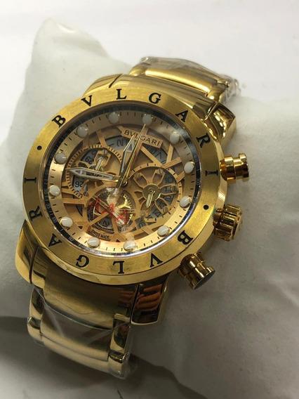 Relógio Masculino Bv Skeleton Original