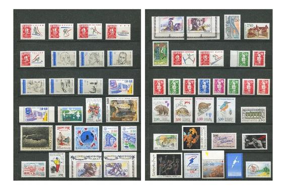Sellos Francia Año 1991 Completo Yvert 2676-2735 Mnh