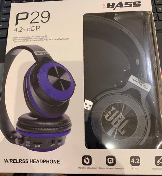Fone De Ouvido Jbl P29 Sd Bluetooth Reprodução De Músicas