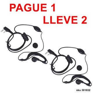 Pague1 Lleve2 Auricular Audifono Para Baofeng 888s Y Mas W01
