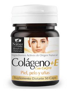 Colageno + Coq10 + Vitamina E 50 Cap Piel Cabello Uña Natier