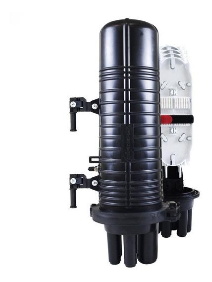 10x Caixa De Emenda Fibra Optica 24fo Fibracem Anatel