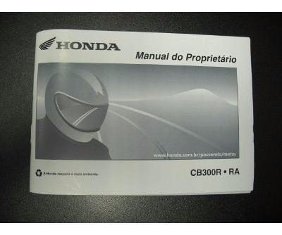 Manual Original Honda Cb 300 - Muito Novo