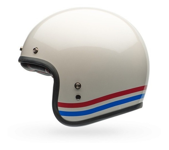 Capacete Custom 500 Stripes Pearl White