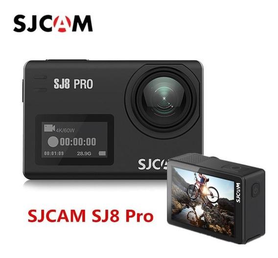 Câmera De Ação Sjcam Sj8 Pro E Gimbal Sjcam V2