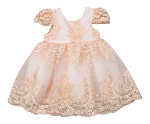 Vestido Luxo Infantil: Princesa Aniversário Daminha Batizado