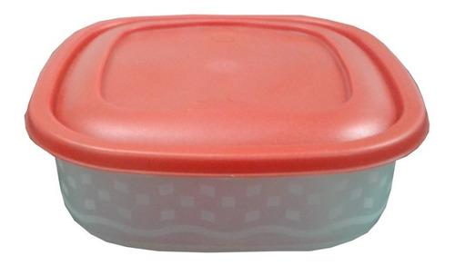 Envase Plástico Cuadrado Para Alimentos 1,75 Litros 3 Unidad