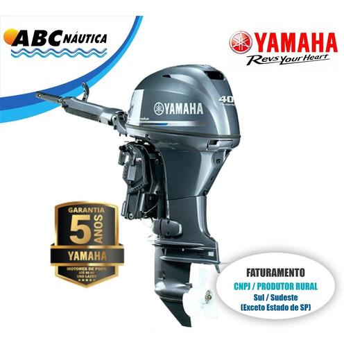 Motor De Popa Yamaha 40hp 4t  Leia Anúncio