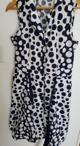 Vestido Lunares Algodon Tipo Jacky T M