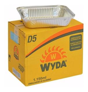 Embalagem Wyda 1150ml D5 100 Unidades Com Tampa Cartao Alum.