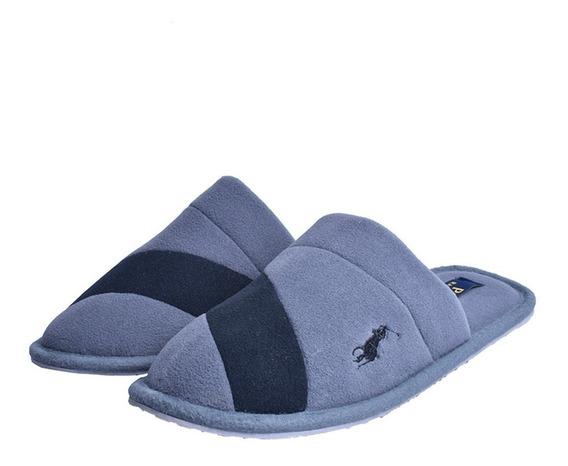 Pantufla Polo Ralph Lauren Para Caballero Clásica Color Gris