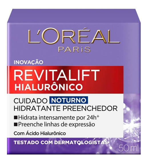 Loreal Revitalift Hialurônico Creme Antirrugas Noturno 49g