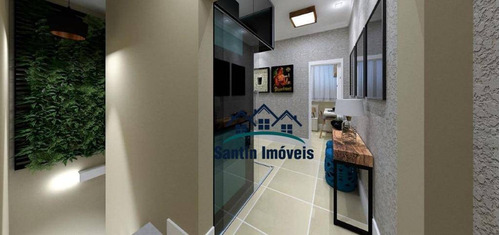 Apartamento  Sem Condomínio Com 02 Quartos (01 Suíte ) Fino Acabamento, Quintal, Vaga Coberta  À Venda, 50 M² - Campestre - Santo André/sp - Ap1394