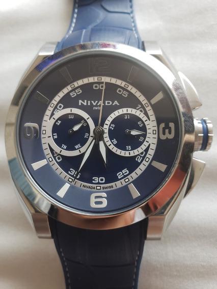 Reloj Nivada Azul Analogo