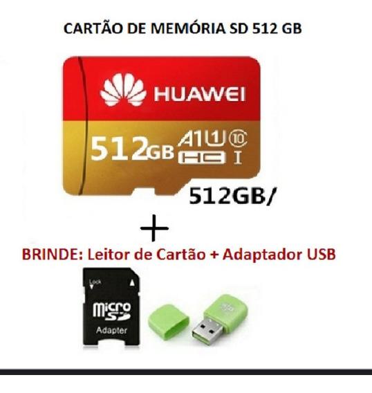 Cartão Micro Sd Huawei 512 Gb Classe 10 Pronta Entrega