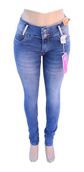 Calça Jeans Feminina Sawary Modela Bumbum Com Bojo Removível