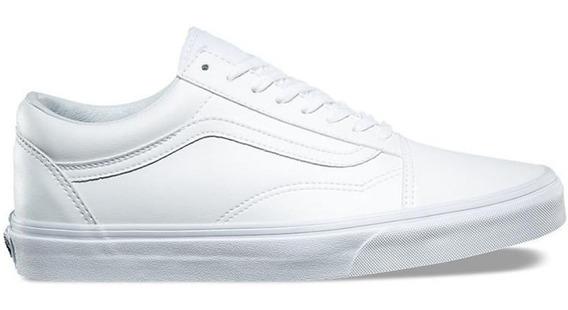 Tenis Vans Old Skool Originales Blanco Piel Classic