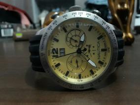 Relógio Nautica Enorme Belo Com Motivos Náuticos Original