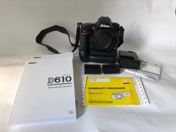 Nikon D610 6.500 Clicks + Nikkor 24-70 2.8 G Ed G + Brindes