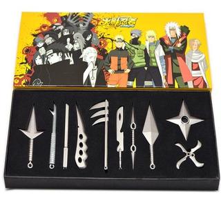 Naruto Armas Set 10 Pz Cuchillo, Espada Shippuden