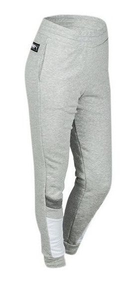 Pantalon Puma Athletics Sweat Gri De Mujer