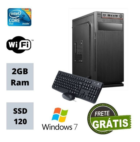 Pc Torre Intel Core 2 Duo Ssd 240gb 2gb Ram / Win 7 Usb!!!