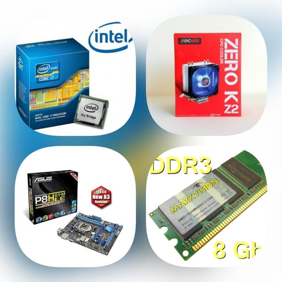 I7 3770 + Placa Mãe H61 +8gb Ram + Cooler Zero K2