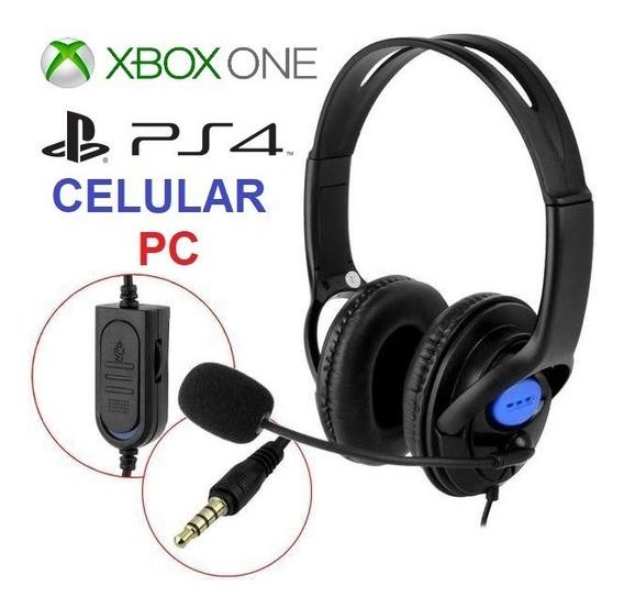 Fone Headset Game Ps4 Xbox One Pc Celular Barato C/ Microfon