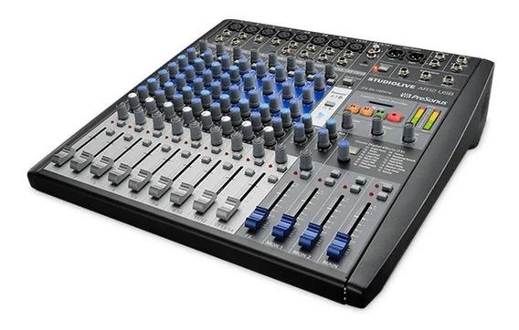 Mixer Presonus Analógico E Interface De Gravação Ar12