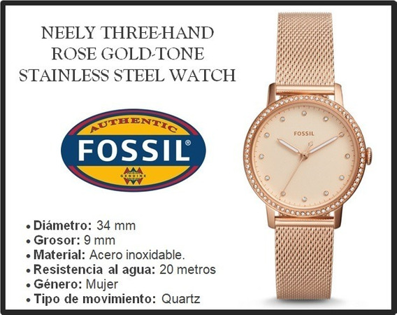 Reloj Fossil Neely Three-hand Rose Gold-tone Stainless Steel