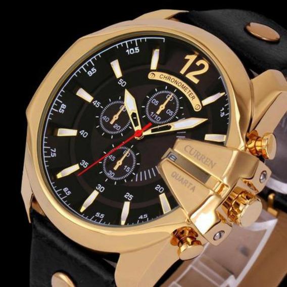 Relógio Masculino Curren 8176 Original Couro Esportivo