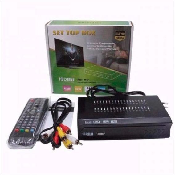 Conversor Tv Sinal Digital Isdb-t Set Top Box Full Hd Hdmi