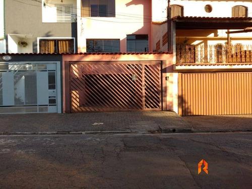 Imagem 1 de 30 de Sobrado Com 3 Dormitórios À Venda, 178 M² Por R$ 650.000 - Vila Scarpelli - Santo André/sp - So0093