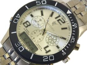 Relógio De Pulso Potenzia Masculino Prata B5665