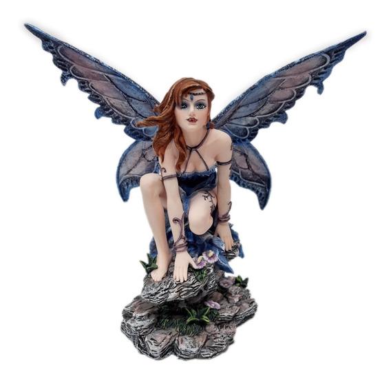 Bella Figura De Hada Del Bosque Azul