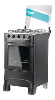 Cocina Tem Mastercook 4h Super Gas Negra Oferta Loi