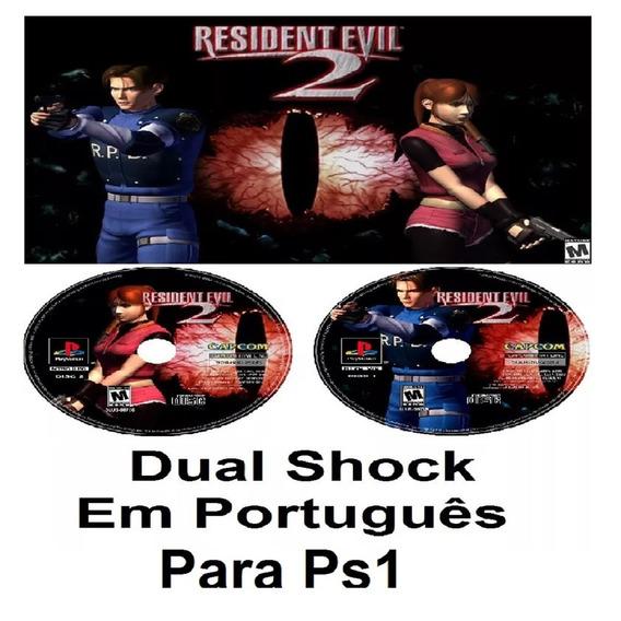 Resident Evil 2 Dual Shock Em Português - Usa - Ps1, Psone