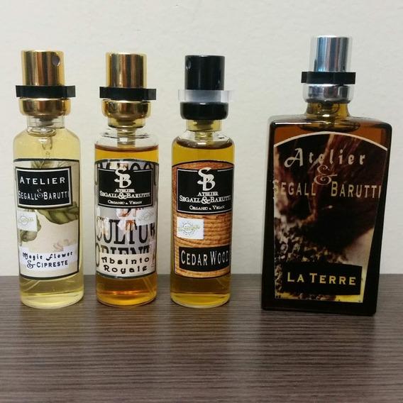 4 Perfumes Nicho Atelier Segall Barutti 15ml (3x) 30ml (1x)