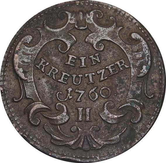 .: Austria 1760 1 Kreutzer- Maria Theresa :.